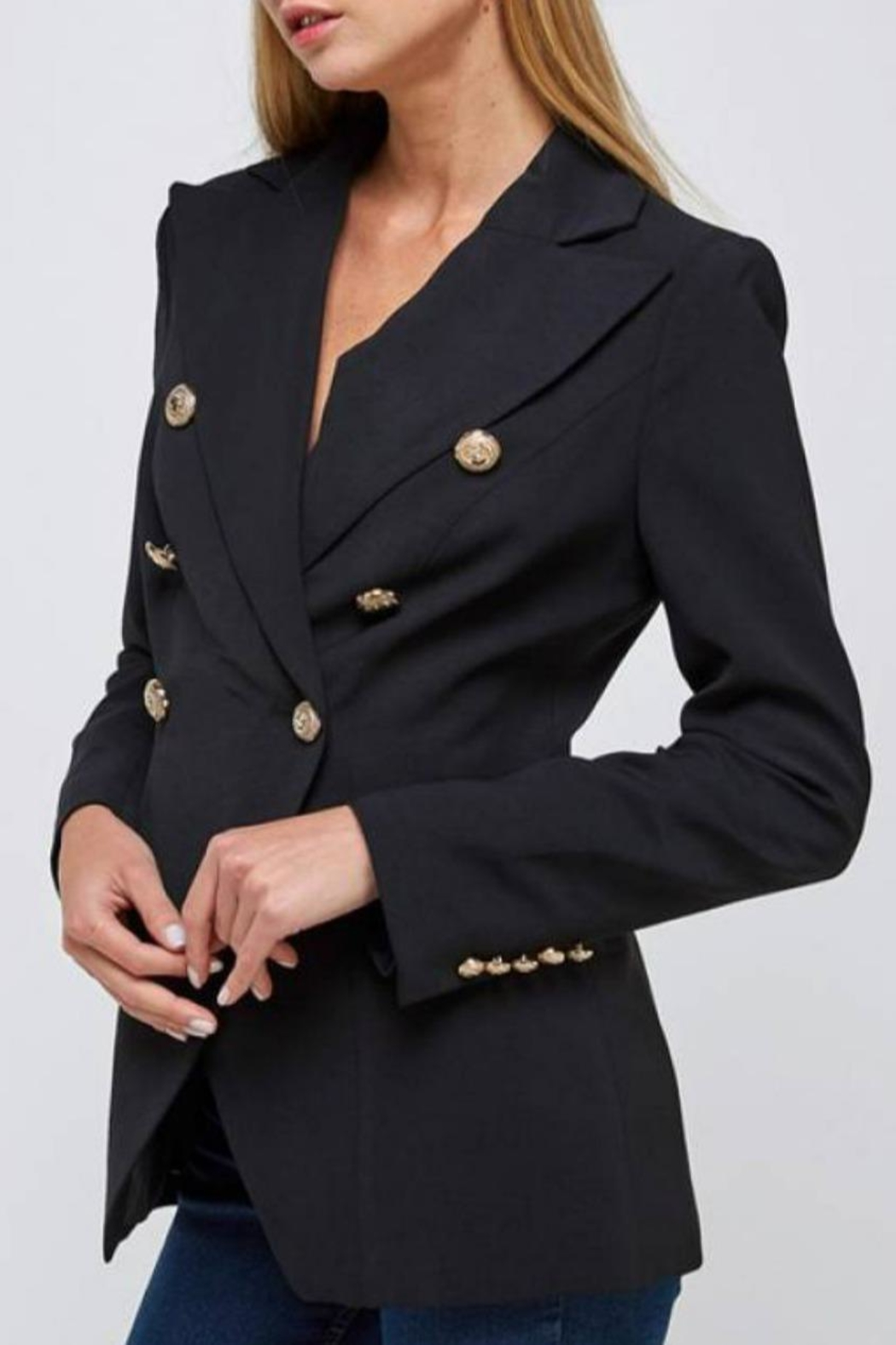 essue Double-Breasted Blazer - Side Cropped Image