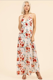 essue Floral Backless Dress - Front cropped