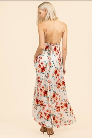 essue Floral Backless Dress - Front full body