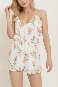 essue Flower Print Romper - Product List Image