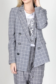 essue Grey Check Blazer - Product Mini Image