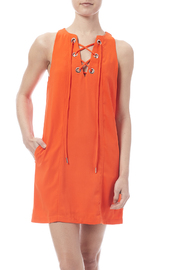essue Tangerine Grommet Detailed Dress - Product Mini Image