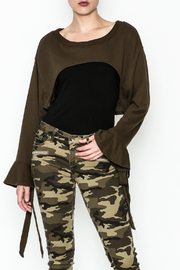 essue Layered Sweater Top - Front cropped
