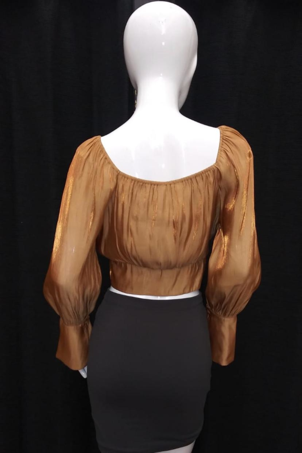 essue Long-Sleeve Bronze Top - Front Full Image
