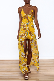 essue Mustard Maxi Romper - Front full body