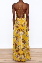 essue Mustard Maxi Romper - Back cropped