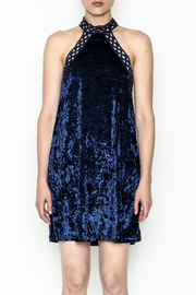 essue Navy Velvet Halter Dress - Product Mini Image