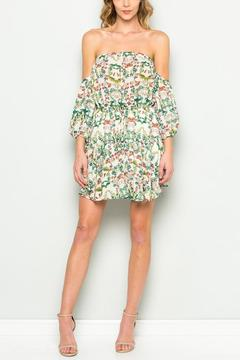 Shoptiques Product: Off Shoulder Flower Dress