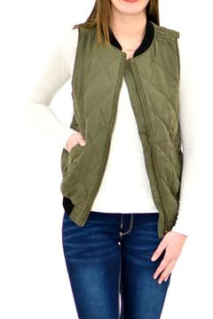 Shoptiques Product: Olive Quilted Vest