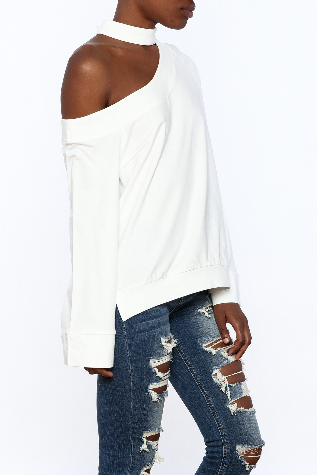 essue White One-Shoulder Top - Main Image