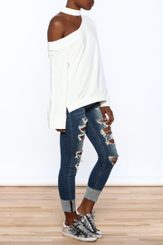 essue White One-Shoulder Top - Front full body