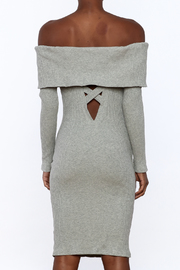Shoptiques Product: Ribbed Knee Dress - Back cropped