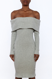 Shoptiques Product: Ribbed Knee Dress - Side cropped