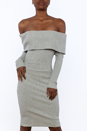 Shoptiques Product: Ribbed Knee Dress - Front cropped