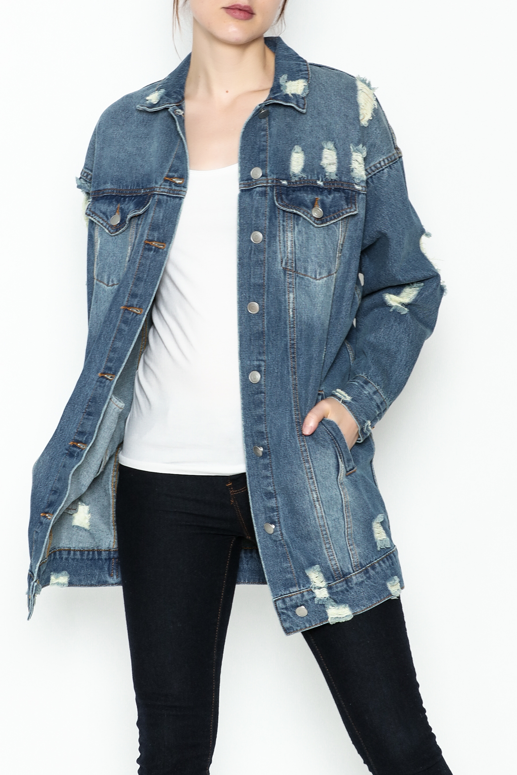 essue Oversized Denim Jacket - Main Image
