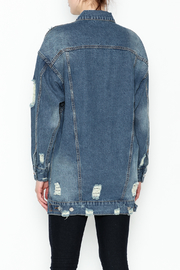 essue Oversized Denim Jacket - Back cropped