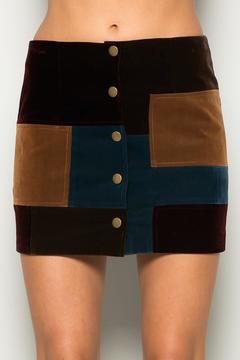 Shoptiques Product: Patchwork Suede Skirt