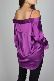 essue Purple Satin Top - Product Mini Image