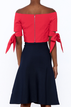 essue Red Cropped Top - Alternate List Image