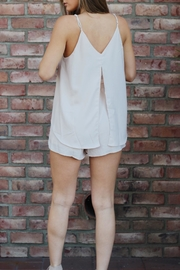 essue Romper Beige Shorts - Front full body
