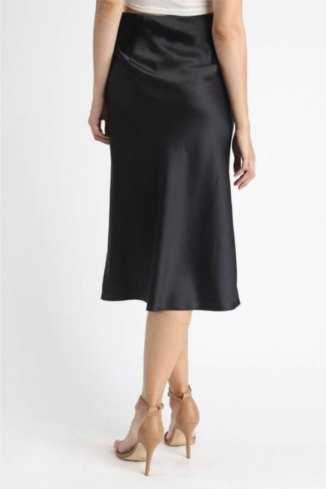 essue Satin Midi Skirt - Side Cropped Image