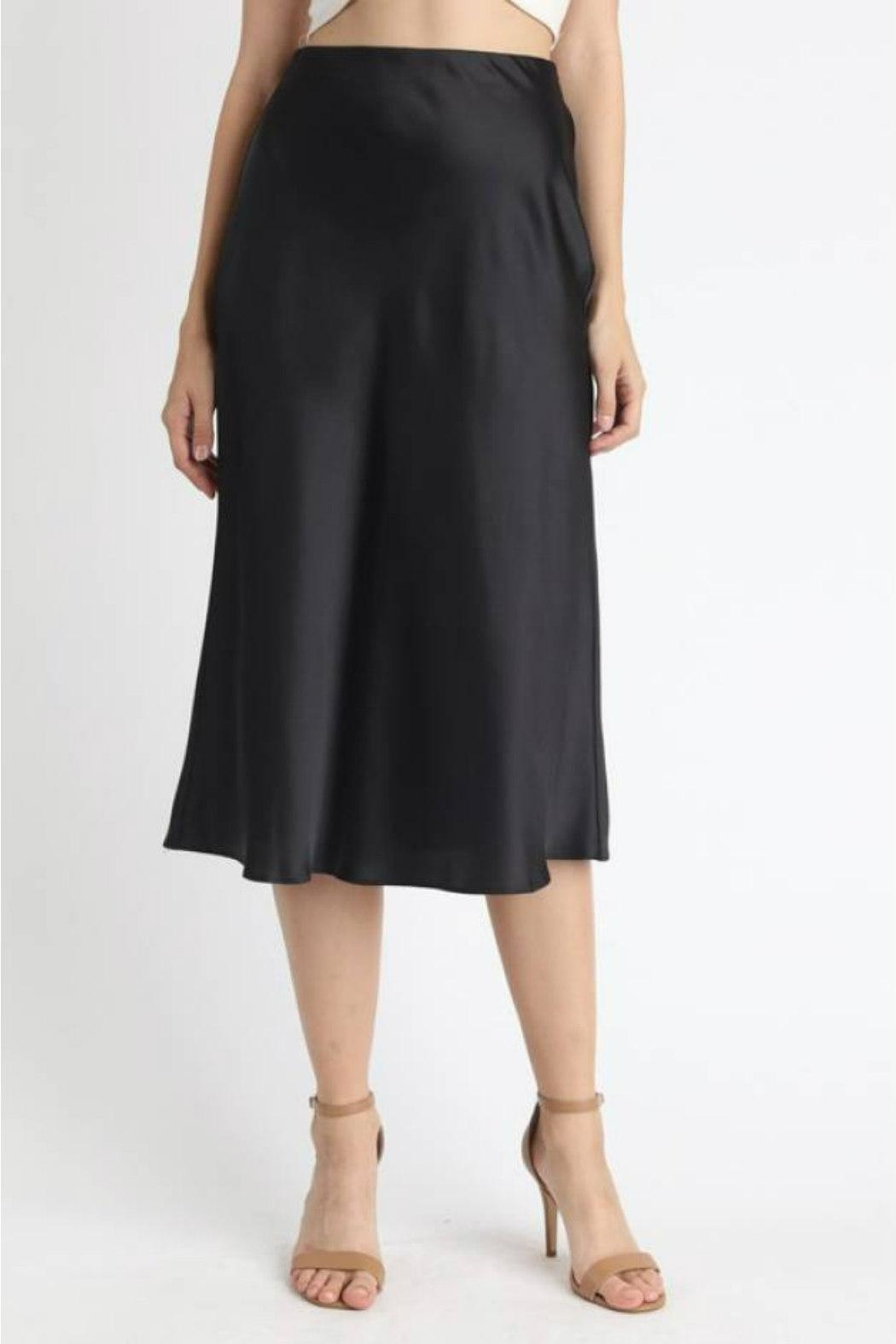essue Satin Midi Skirt - Main Image