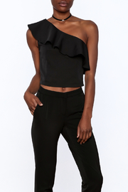 essue Ruffle One Shoulder Top - Product Mini Image