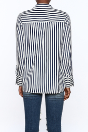 essue Stripe Button-Down Top - Back cropped