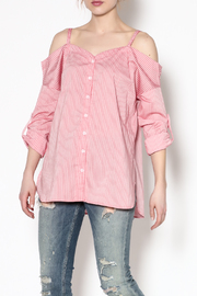essue Stripe Button-Down Top - Product Mini Image