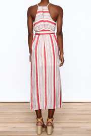 essue Red Stripe Sleeveless Dress - Back cropped