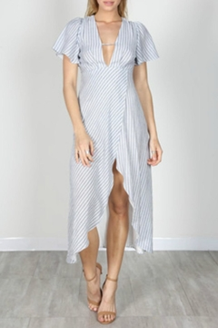 essue Striped Maxi Coverup - Product List Image