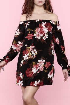 Shoptiques Product: Black Floral Mini Dress