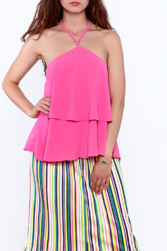 Shoptiques Product: Pink Sleeveless Layered Top