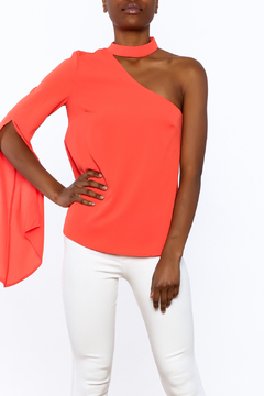 essue One-Shoulder Coral Top - Product List Image