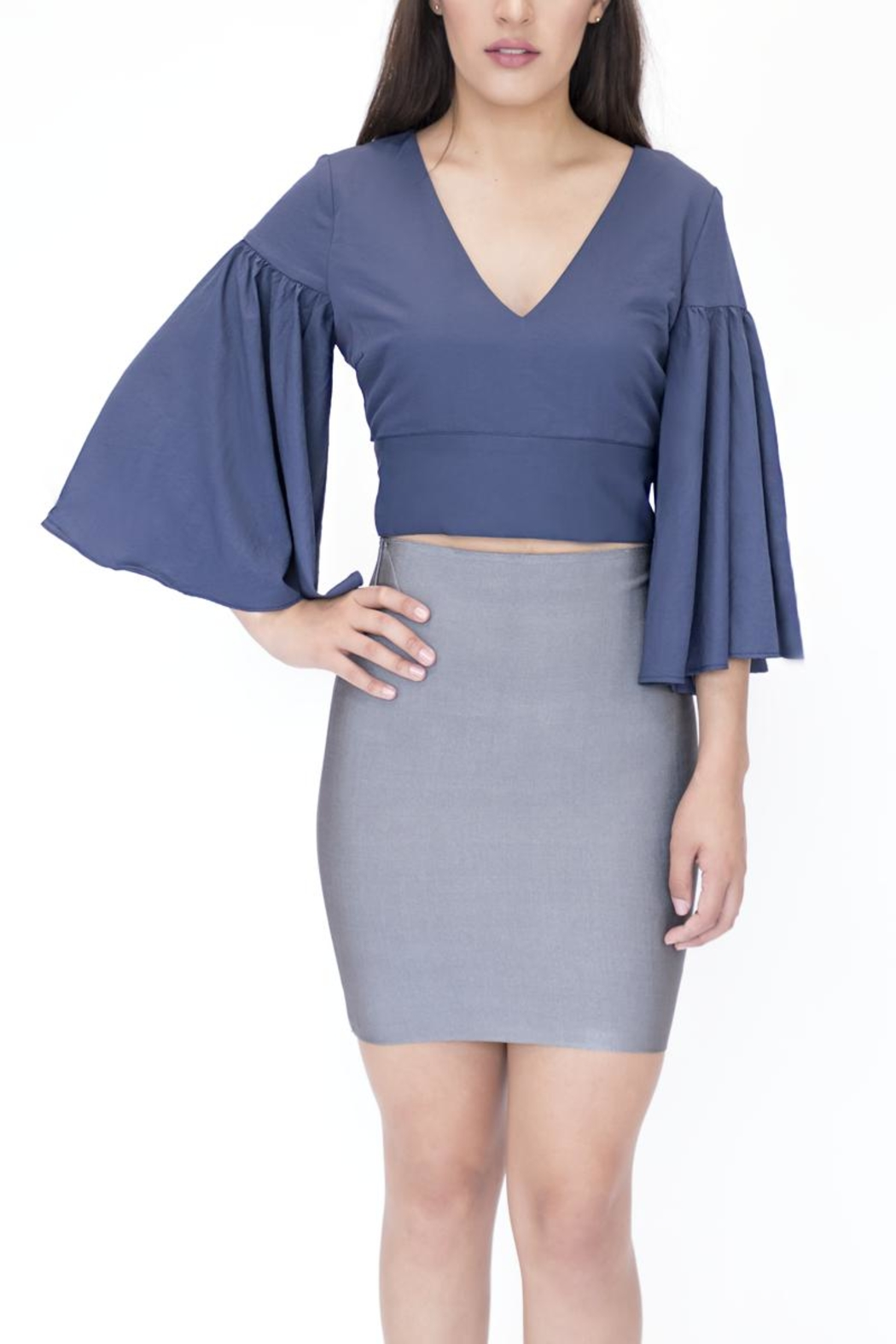 essue Top Flared Sleeve Top - Front Full Image