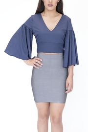 essue Top Flared Sleeve Top - Front full body