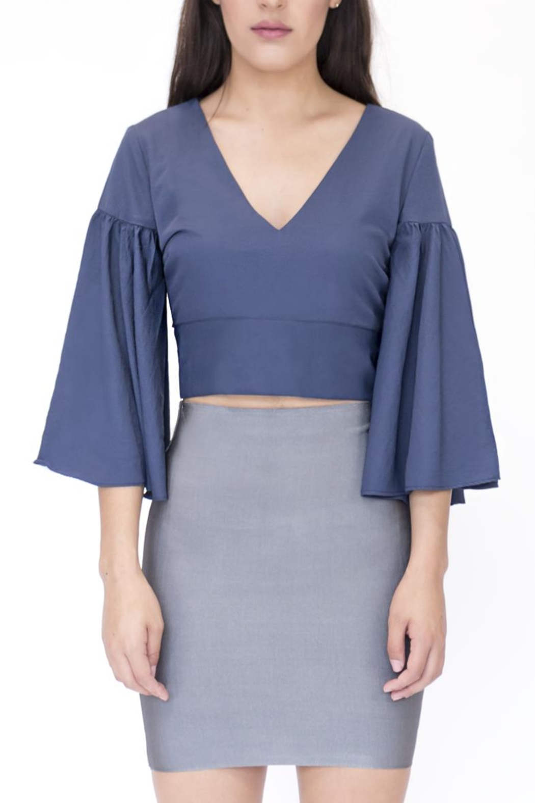 essue Top Flared Sleeve Top - Main Image