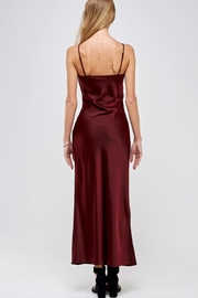 essue Wine Slip Dress - Back cropped
