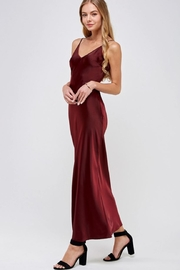 essue Wine Slip Dress - Front full body