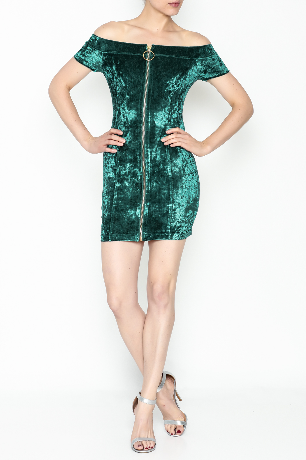 essue Zip Up Front Dress - Side Cropped Image