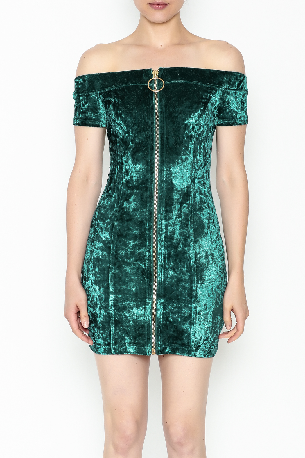 essue Zip Up Front Dress - Front Full Image