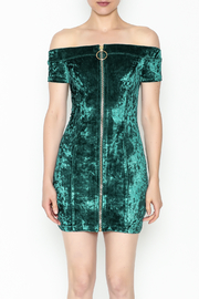 essue Zip Up Front Dress - Front full body