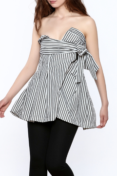 essue Stripe Strapless Top - Product List Image