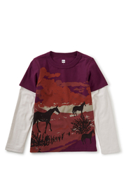 Tea Collection Estancia Layered Graphic Tee - Front cropped