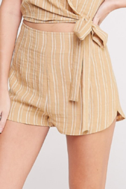 lunik Este Striped Shorts - Product Mini Image