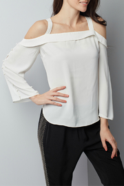 Dora Landa Estella Cold Shoulder Button Sleeve Blouse - Product Mini Image