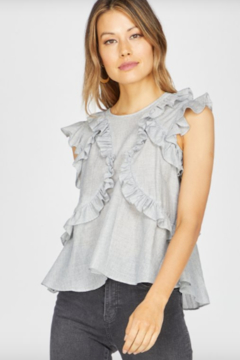 Greylin Estelle Striped Ruffle Top - Product List Image