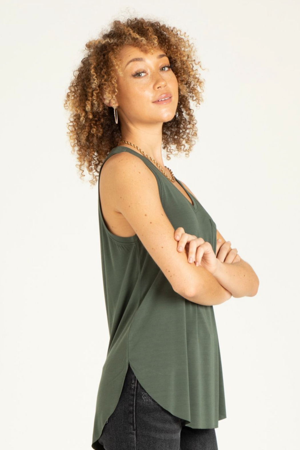another love  Esther sleeveless V - Front Cropped Image