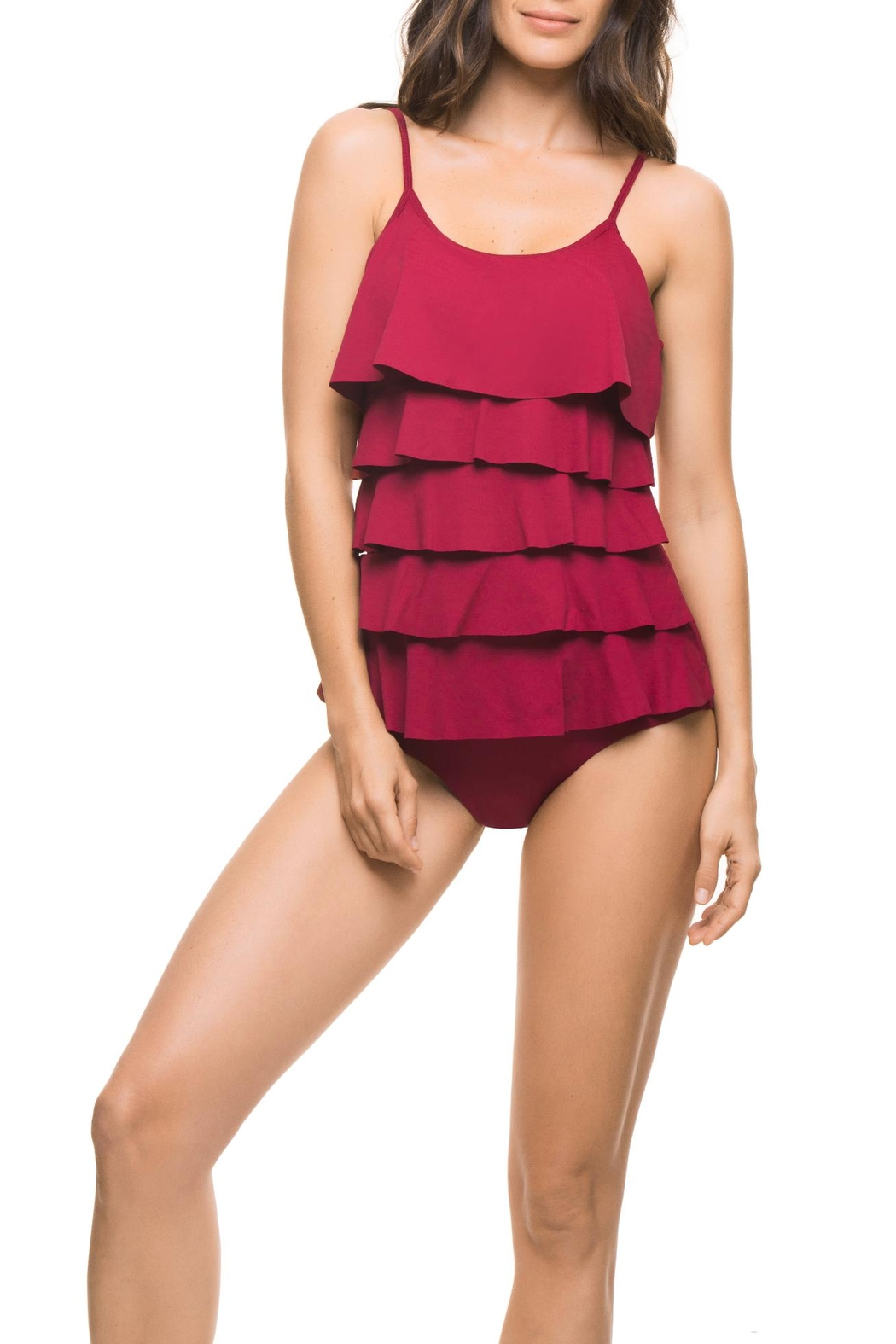 Estivo Red One Piece - Front Cropped Image