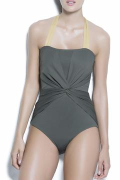 Shoptiques Product: Ruched Olive One Piece